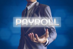 businessman or salaryman with payroll text image from payroll solutions fort meyers florida